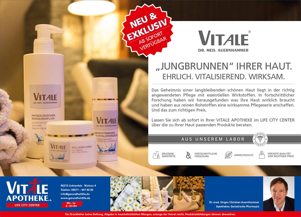 VITALE Dr. med. Auernhammer Kosmetik Großflächenplakat