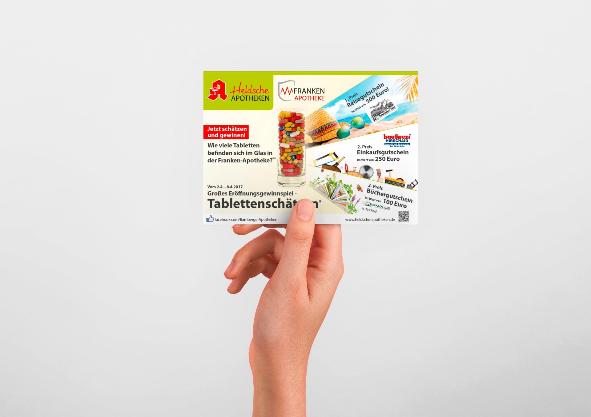 Franken-Apotheke Hirschaid Gewinnspielkarte